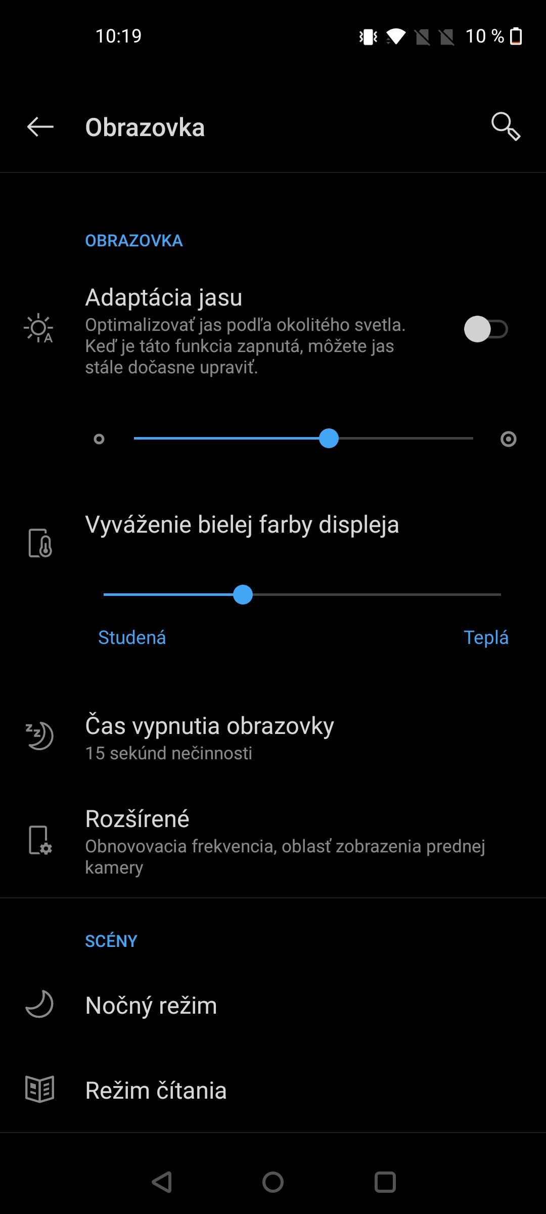 Nord N10 screenshot displej (1)