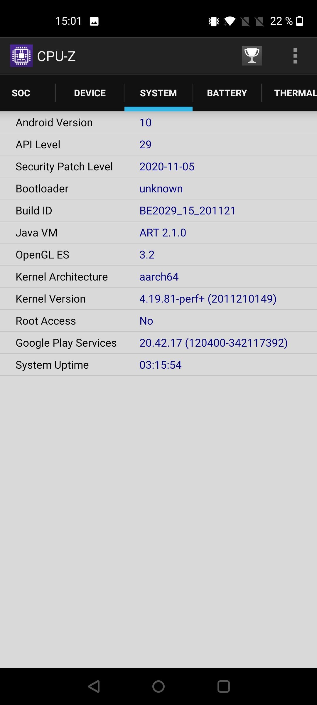 Nord N10 screenshot vykon (4)