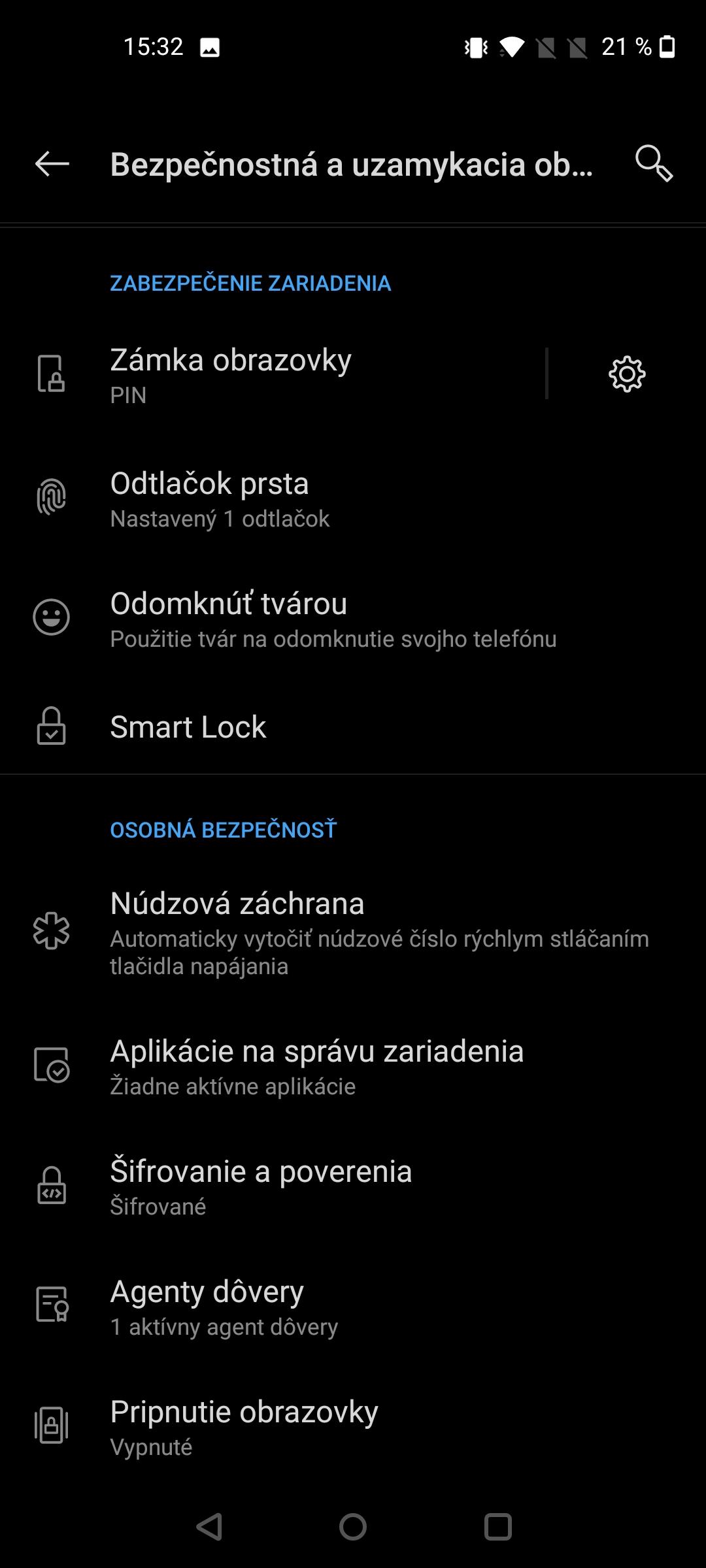 OnePlus Nord N10 screenshot moznosti odomykania (3)