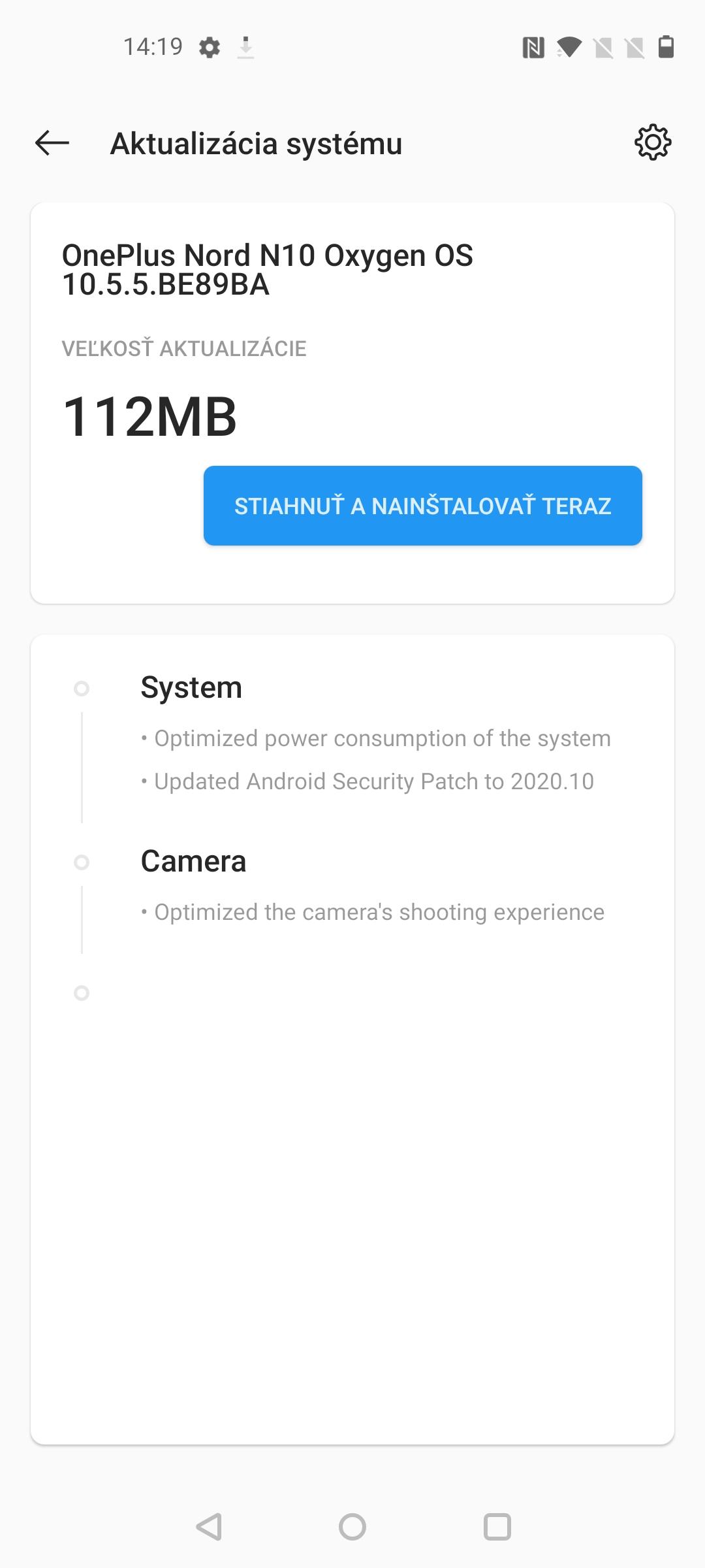 OnePlus Nord N10 screenshot system (1)