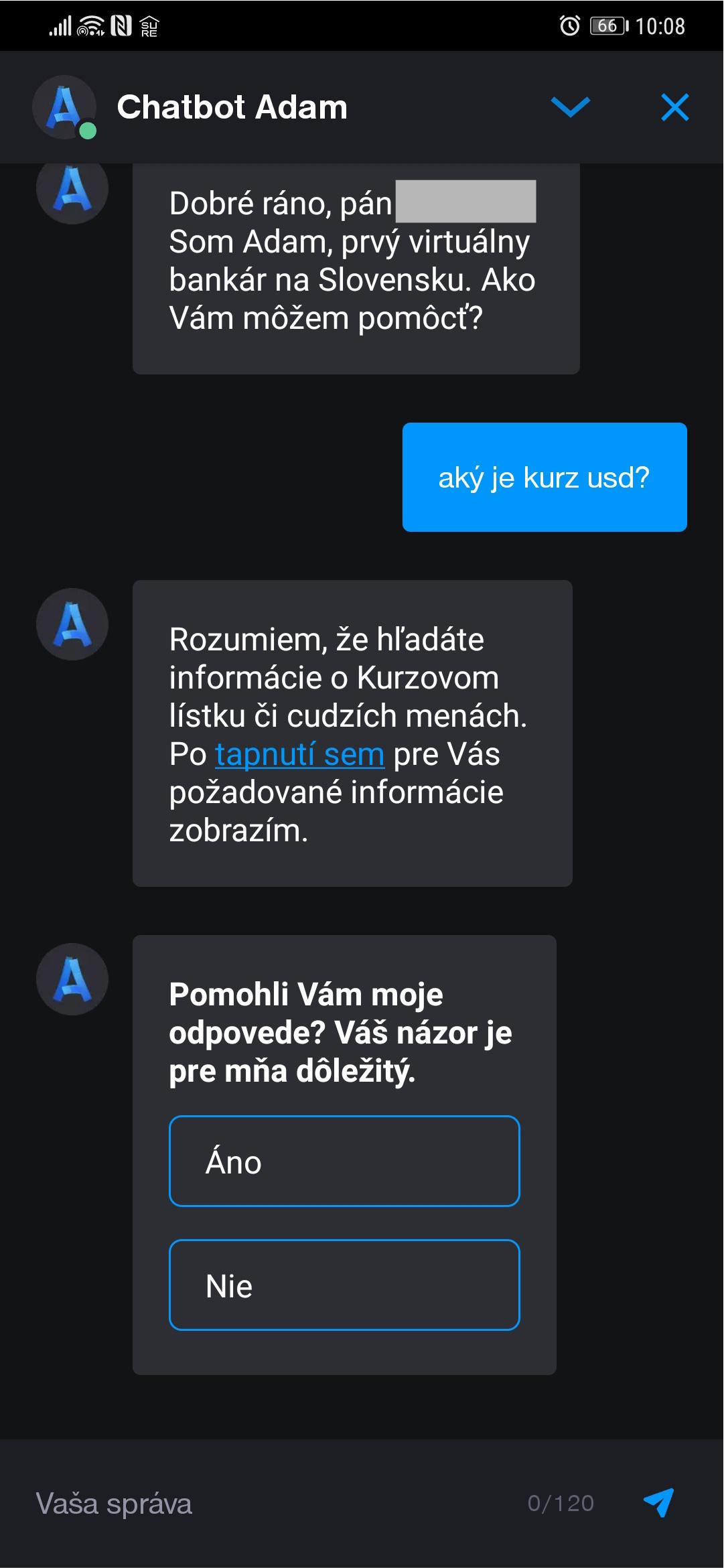 chatbot adam tatra banka