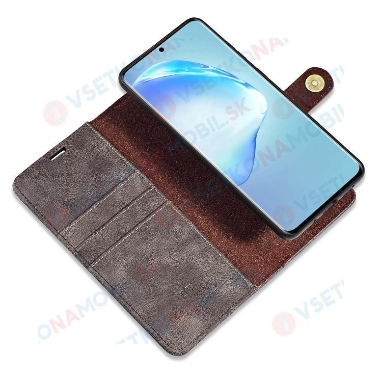 DG.MING Peňaženkový obal 2v1 Samsung Galaxy S20 Plus šedý
