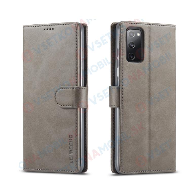 IMEEKE Peňaženkový kryt Samsung Galaxy S20 FE šedý