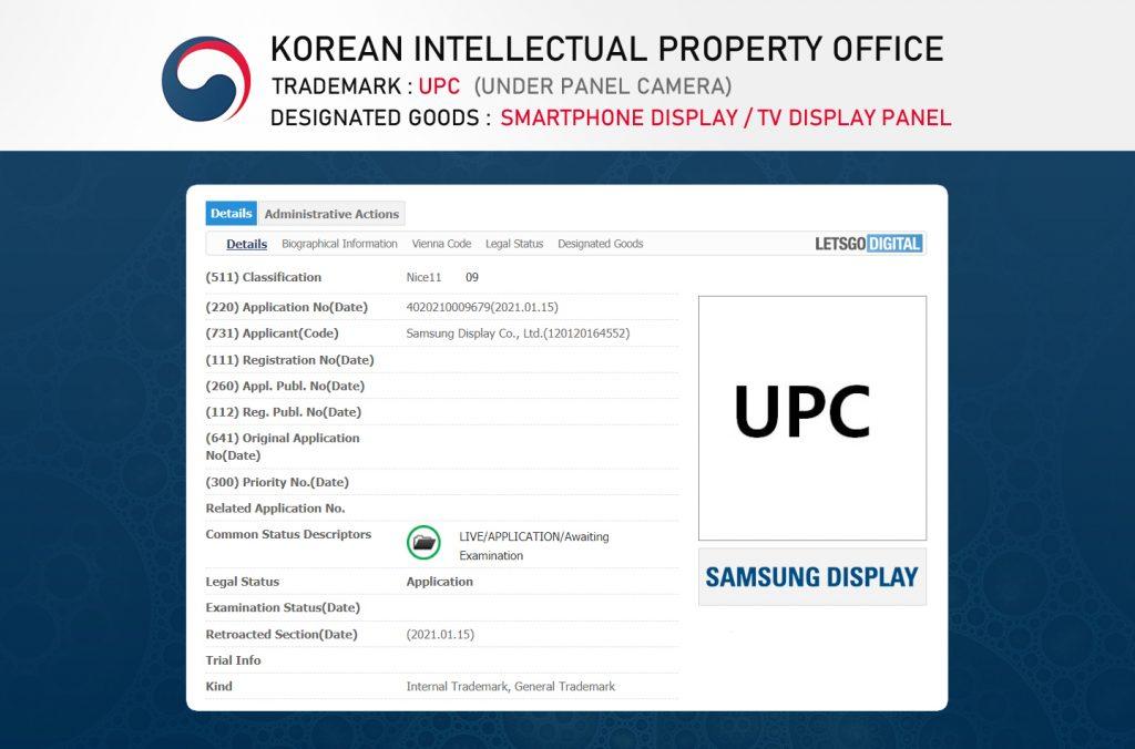 Popis patentu od Samsung pre selfie fotoaparát pod displejom