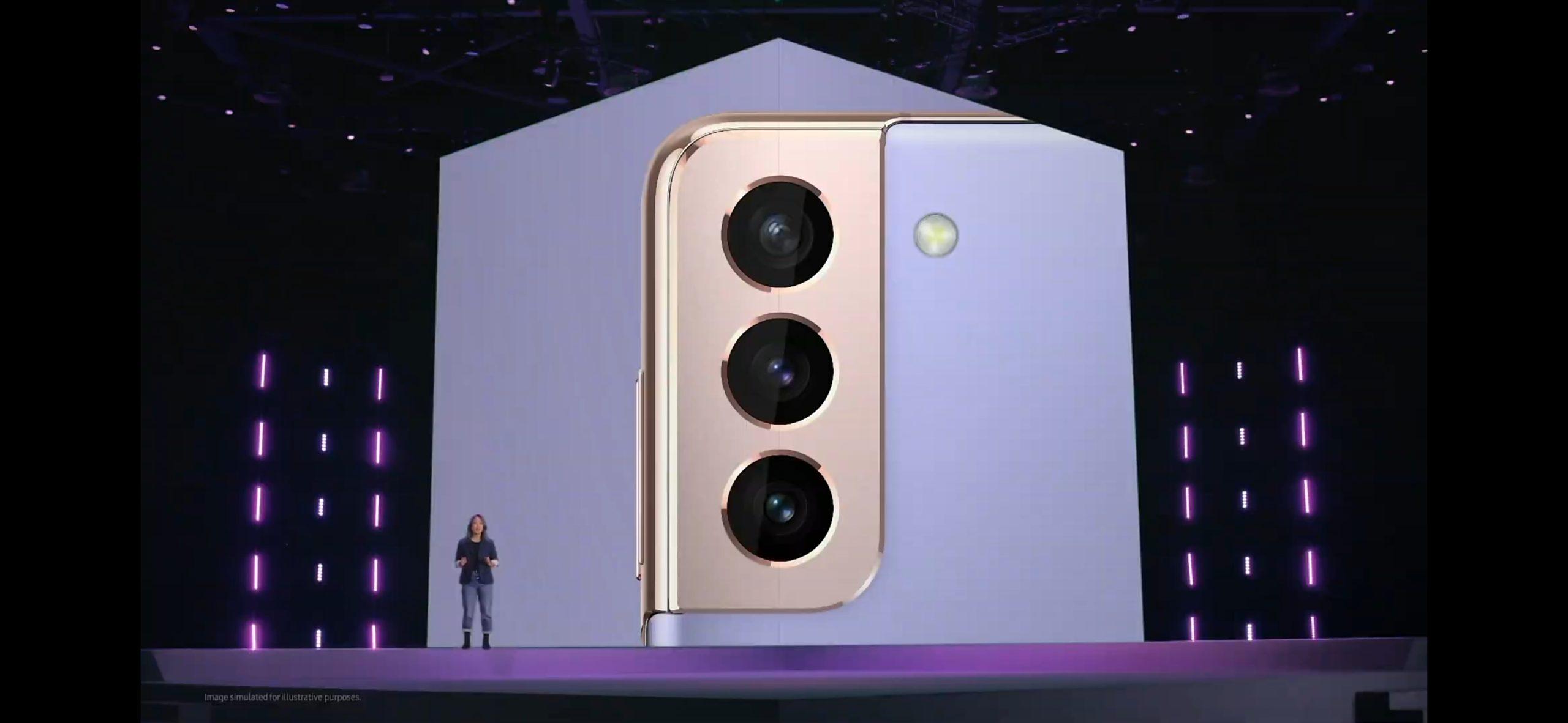 Samsung Galaxy S21 fotoaparát