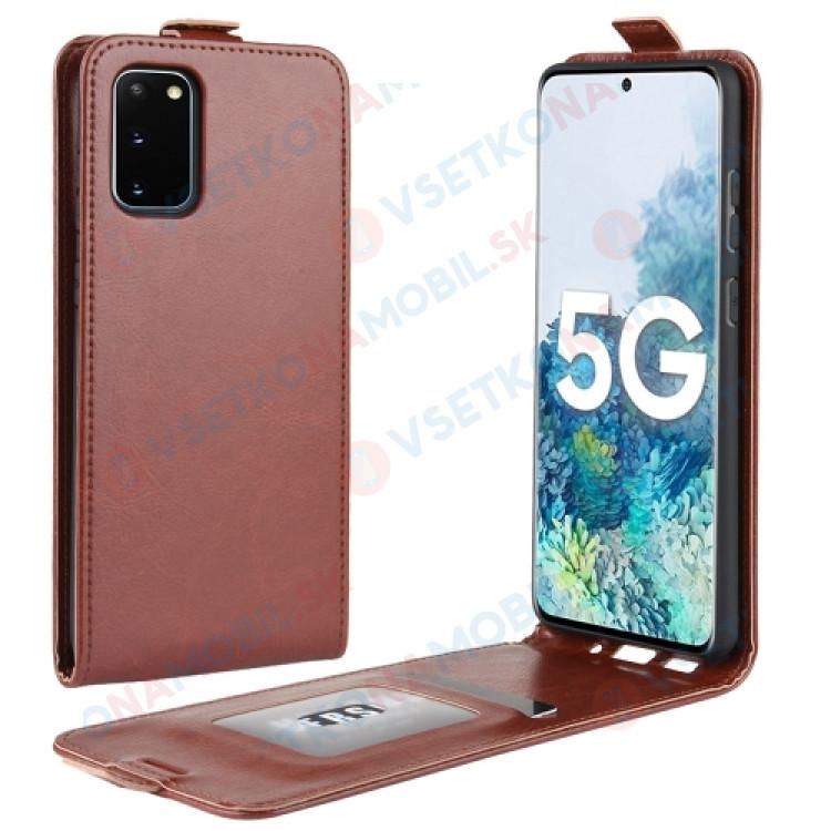 Vyklápacie puzdro Samsung Galaxy S20 FE hnedé
