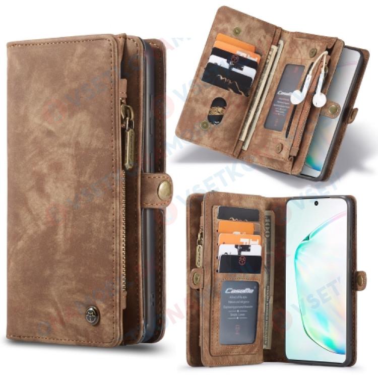 WALLET Ochranný Kryt s peňaženkou 2v1 pre Samsung Galaxy S20 Plus hnedý
