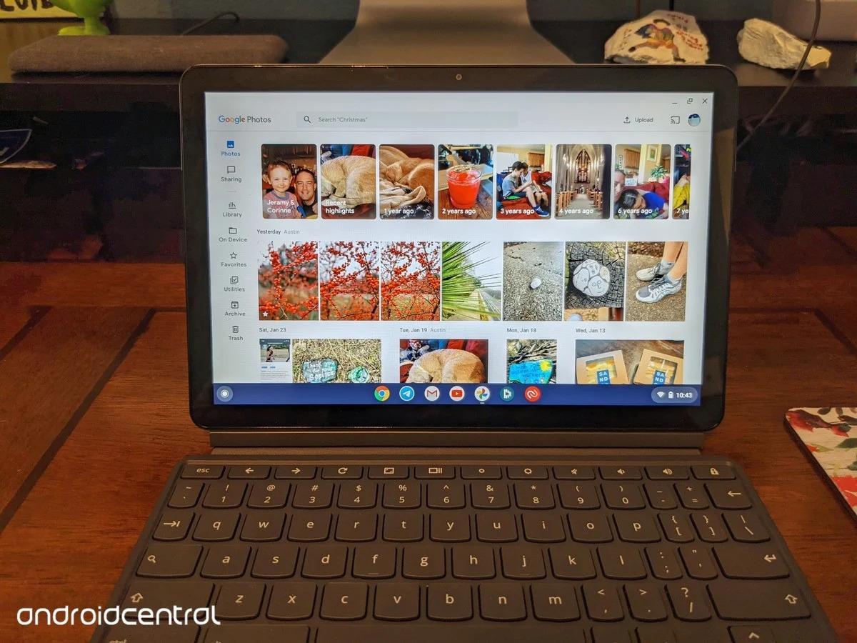 fotky google dizajn tablet chromebook