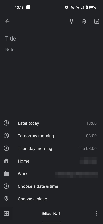 google keep domov praca 1