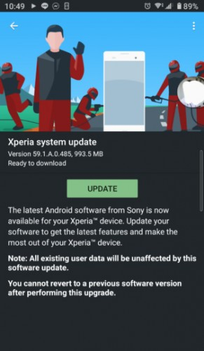 Sony Xperia 10 II Android 11