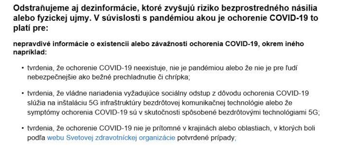 Facebook maže dezinformácie o COVID-19