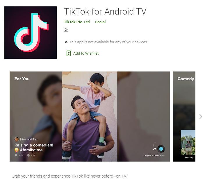 TikTok pre Android TV