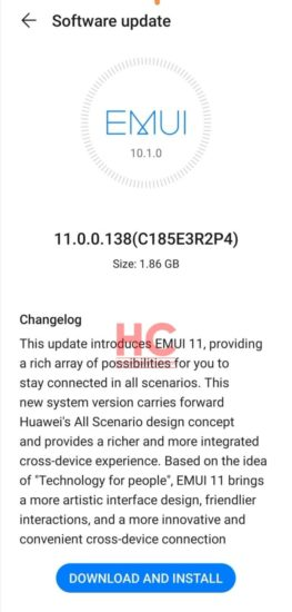 Huawei Mate 20 EMUI 11