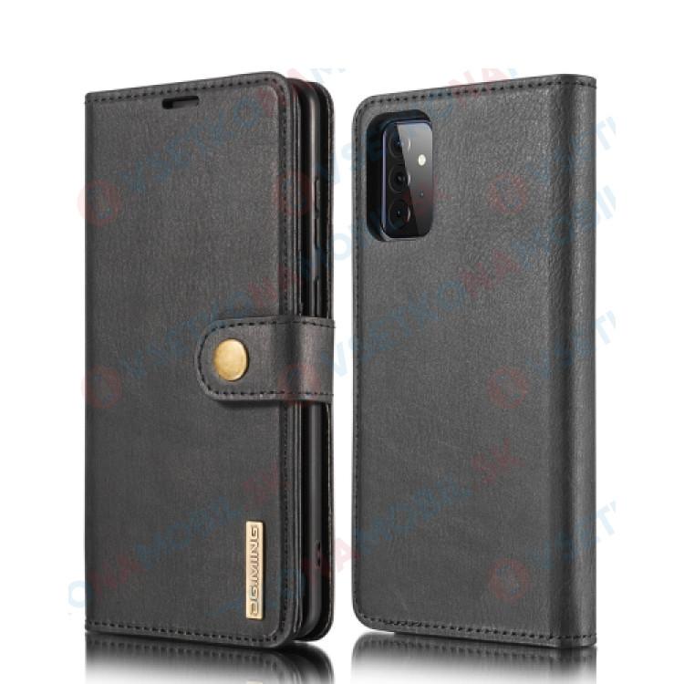 DG.MING Peňaženkový obal 2v1 Samsung Galaxy A72 čierny