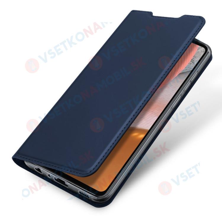 DUX Peňaženkový kryt Samsung Galaxy A72 modrý