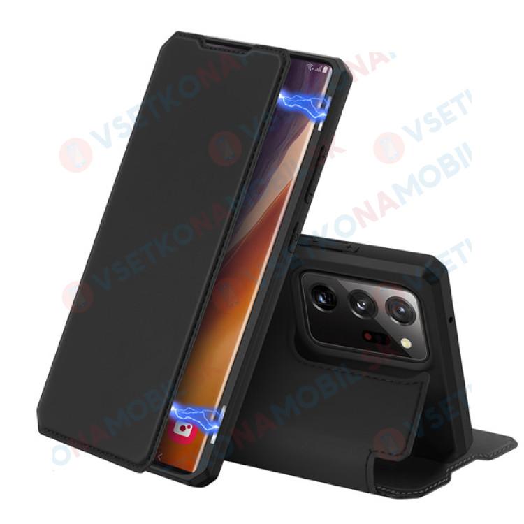 DUX SKIN X Peňaženkový kryt Samsung Galaxy Note 20 Ultra čierny