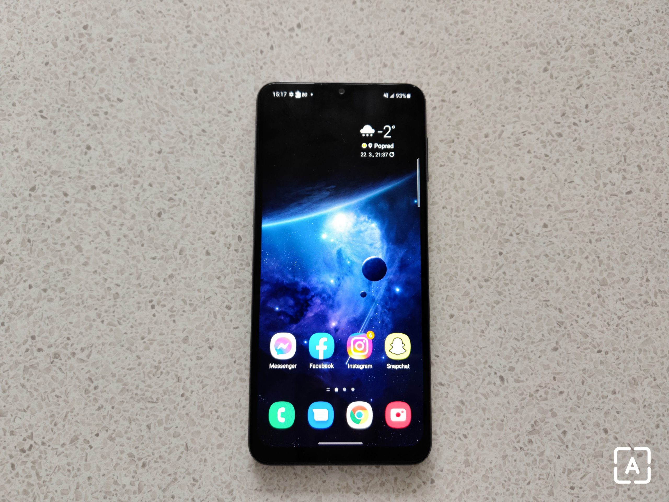 Samsung Galaxy A32 5G domovská obrazovka