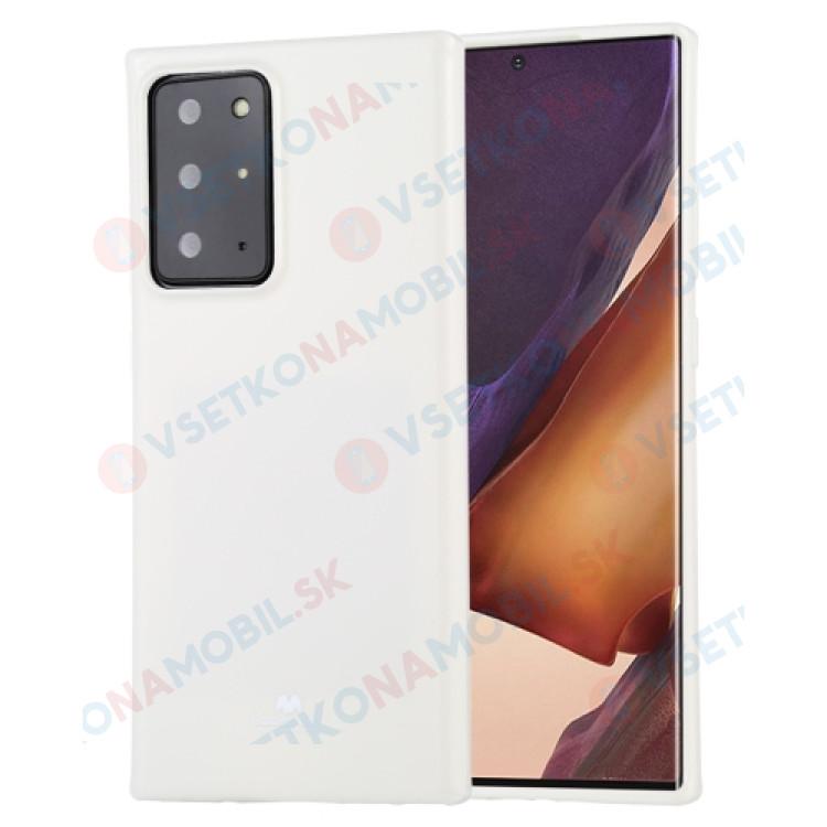 MERCURY JELLY TPU Kryt Samsung Galaxy Note 20 Ultra biely