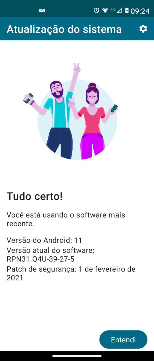 Motorola moto g 5G plus Android 11