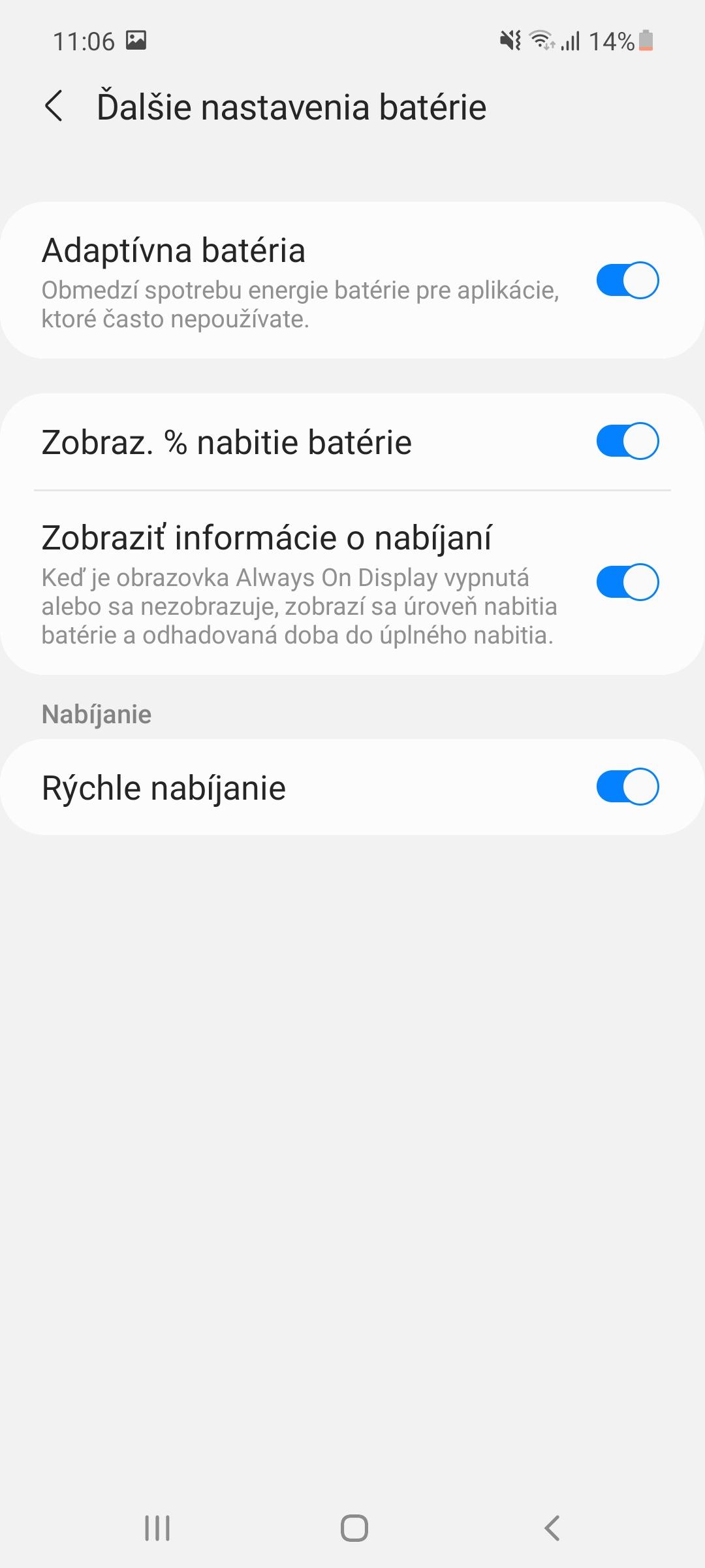 Nastavenia šetrenia batérie - Samsung Galaxy A52 (1)