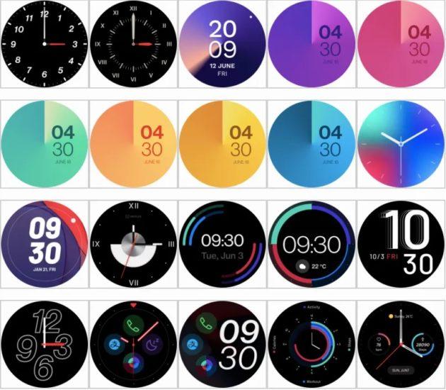 OnePlus Watch ciferníky
