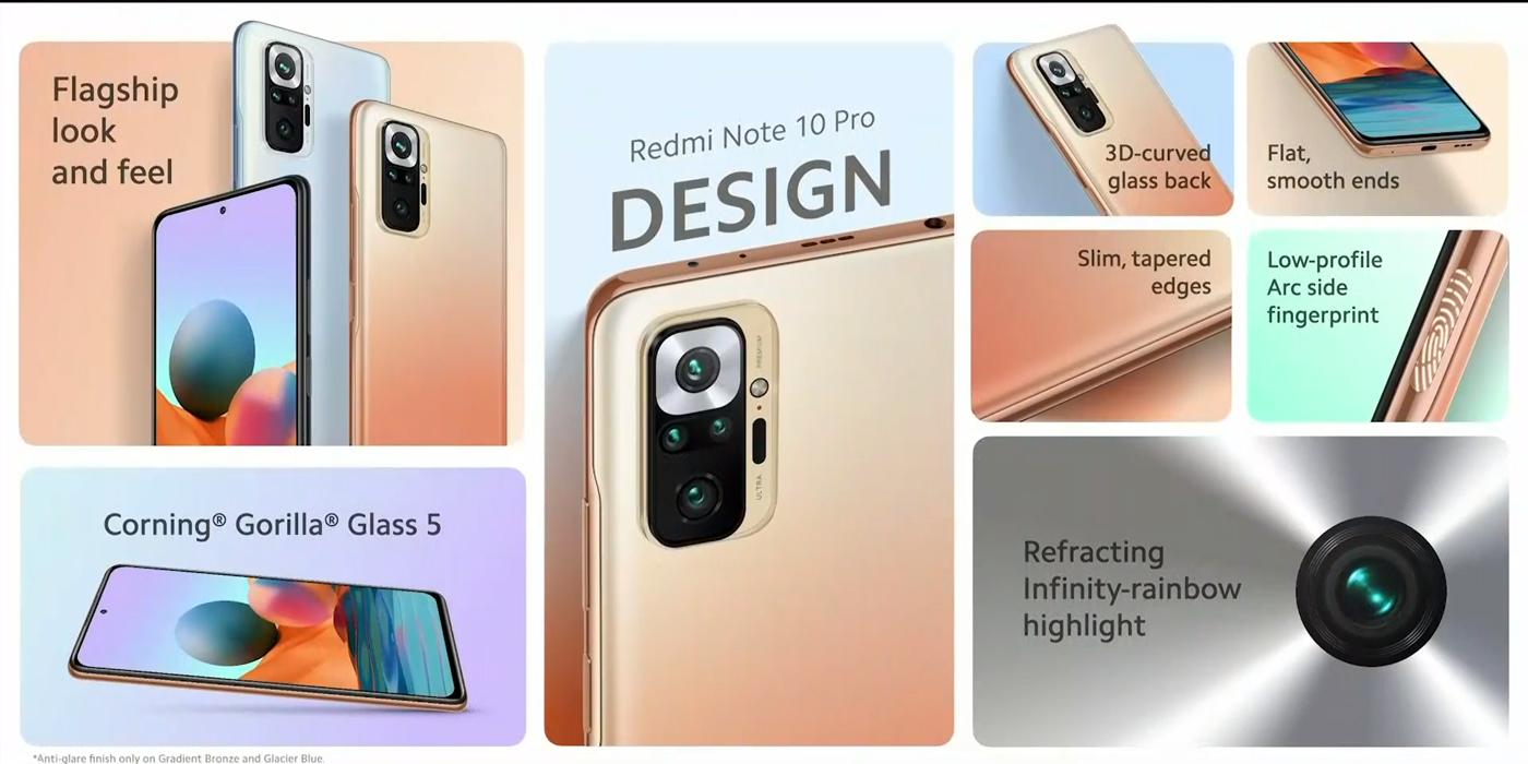Redmi Note 10 Pro dizajn