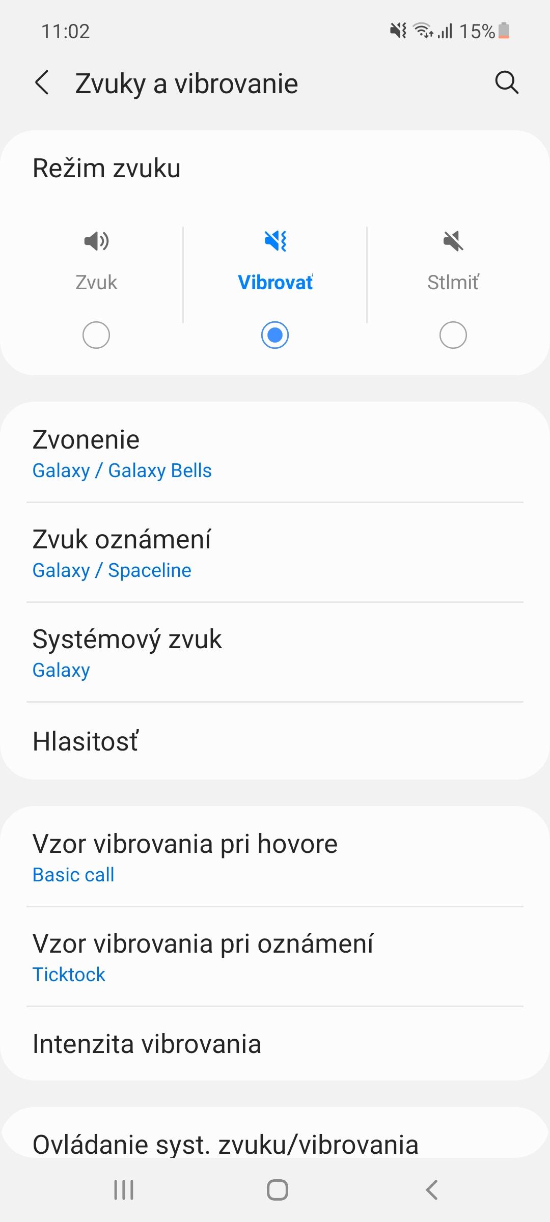 Samsung Galaxy A52 - nastavenia zvuku