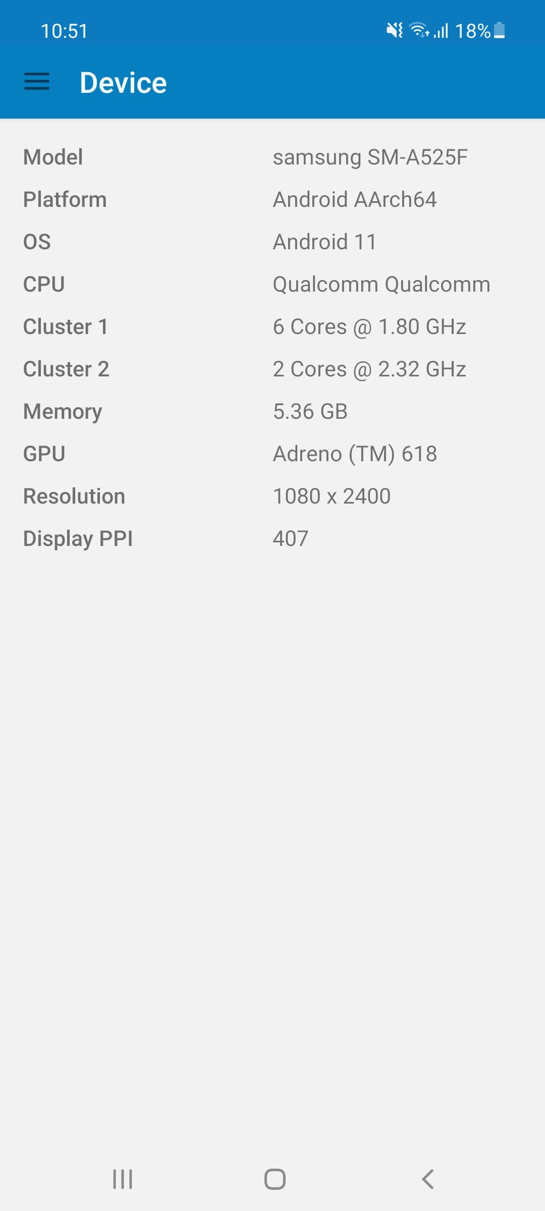 Samsung Galaxy A52 - výkon