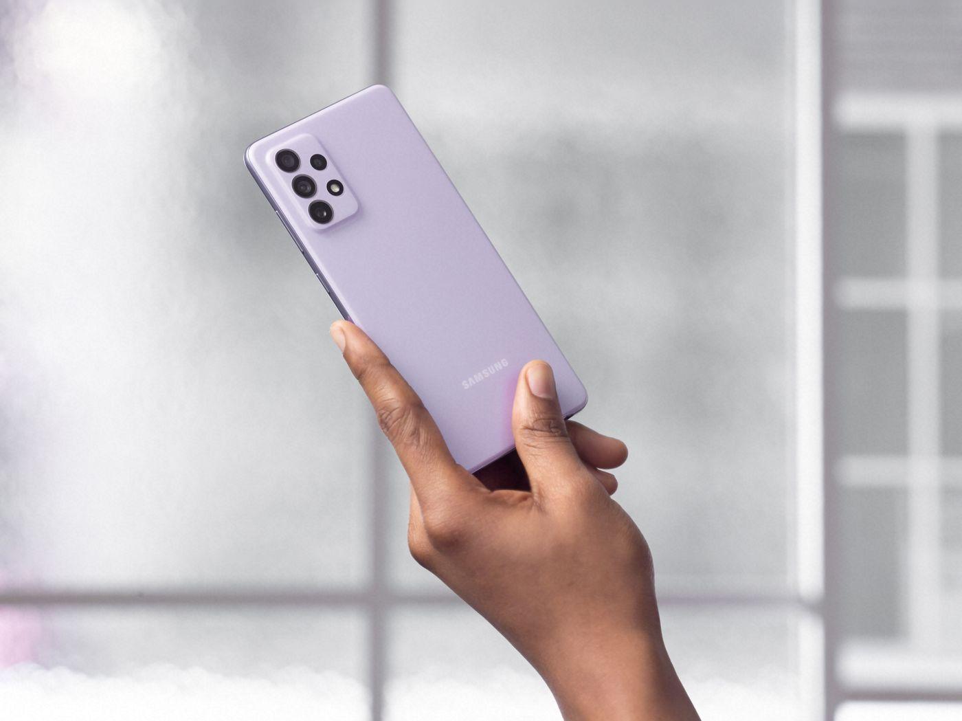 Samsung Galaxy A72 fialovy