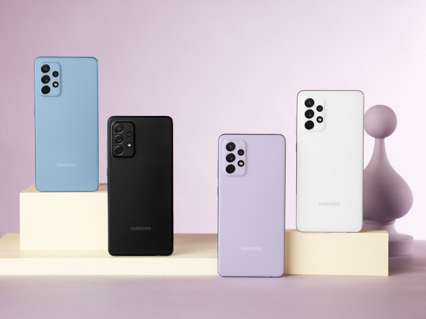 Samsung Galaxy A72 a jeho farebené prevedenia