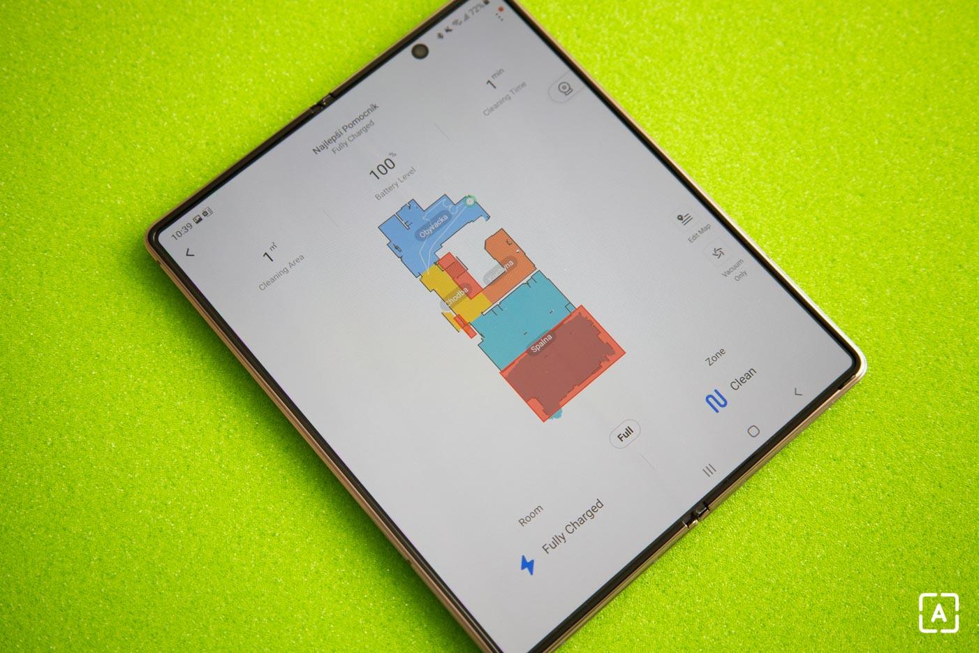 Samsung Galaxy Z Fold2 roborock aplikacia