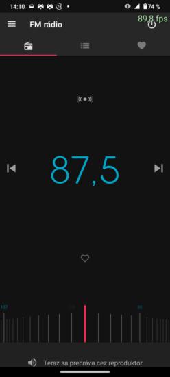 Aplikácia FM rádio Motorola moto g30