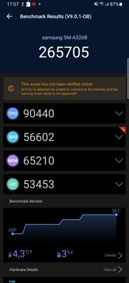 Samsung Galaxy A32 5G AnTuTu Benchmark