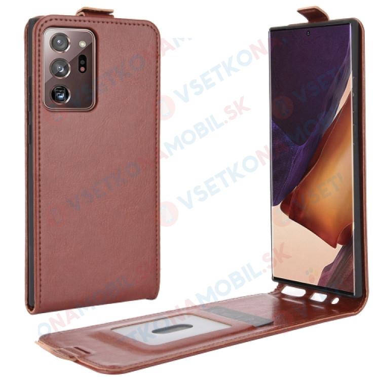Vyklápacie puzdro Samsung Galaxy Note 20 Ultra hnedé