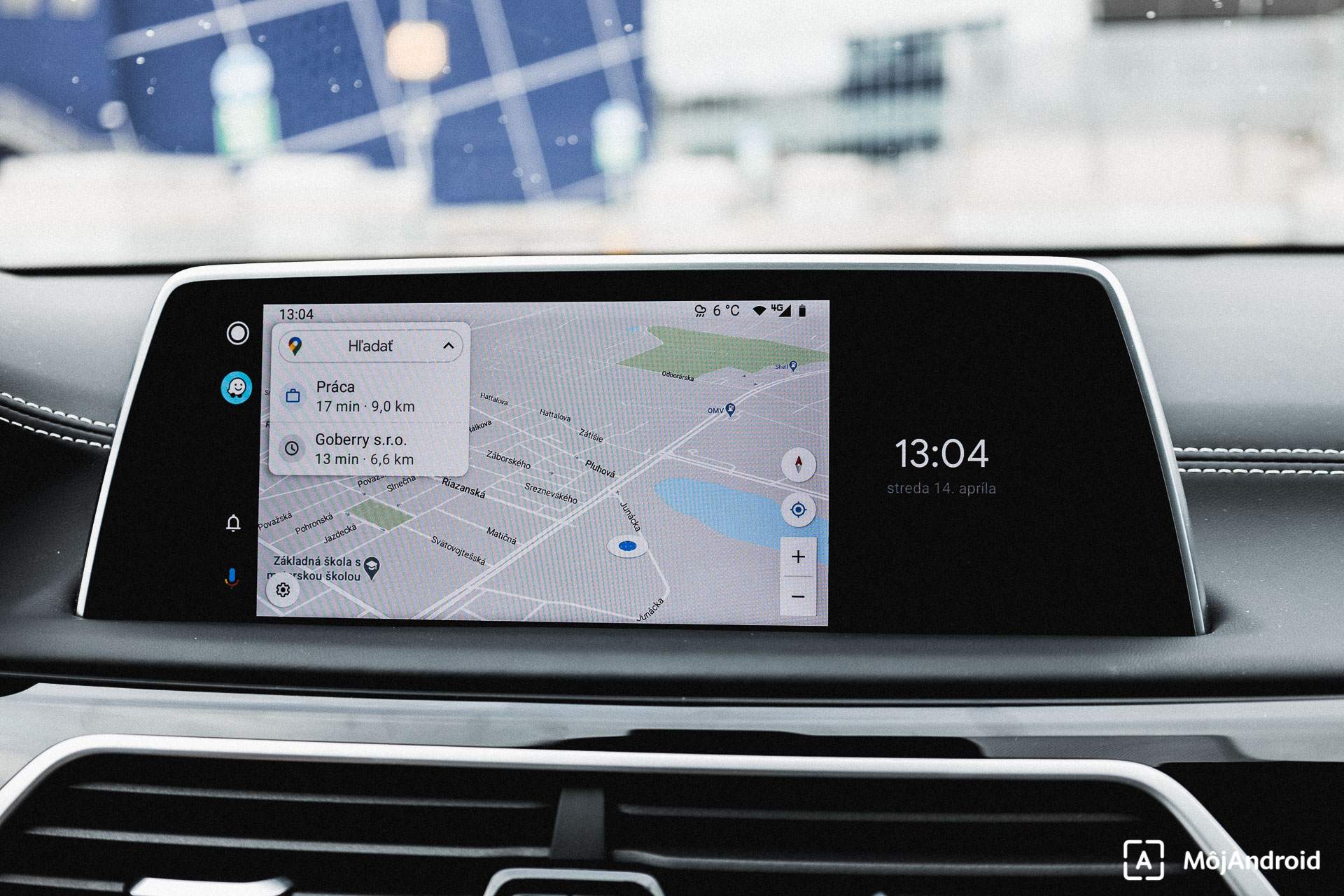 BMW 740 Android Auto Google mapy