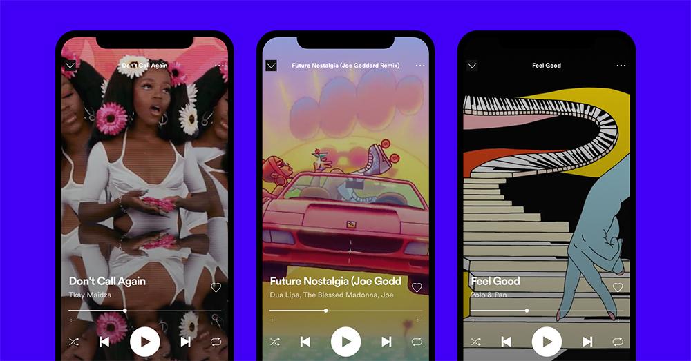 Spotify - mini videá k pesničkám
