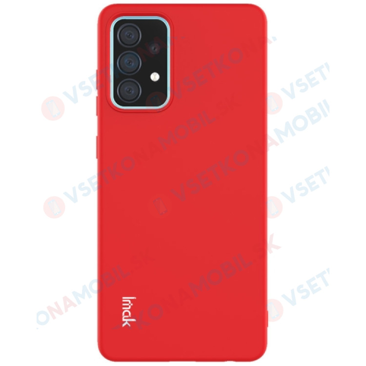 IMAK RUBBER Gumený kryt Samsung Galaxy A52 5G červený