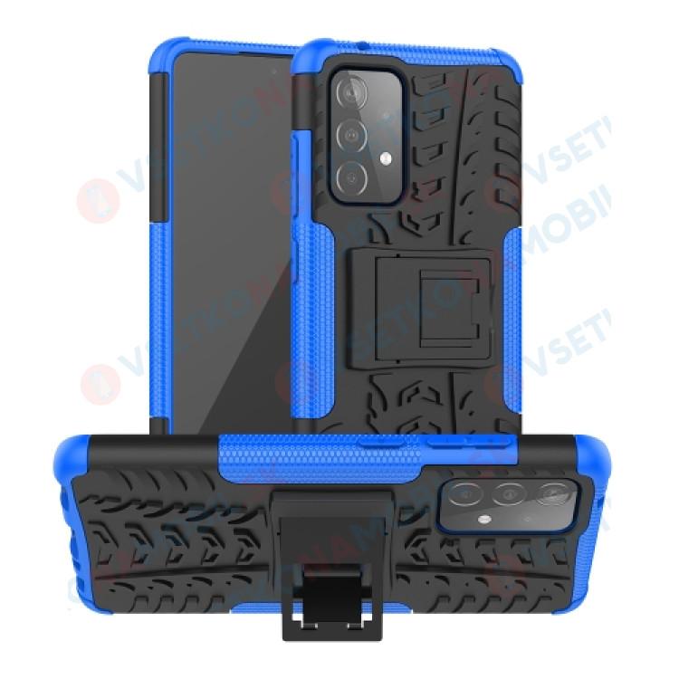 STAND Extra odolný obal Samsung Galaxy A52 5G modrý