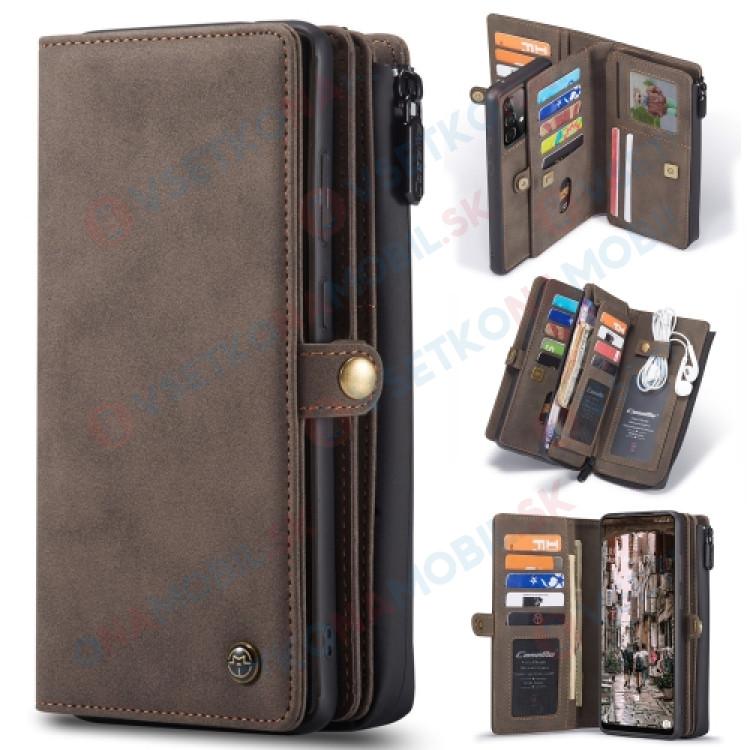 WALLET Ochranný kryt s peňaženkou 2v1 pre Samsung Galaxy A52 5G hnedý