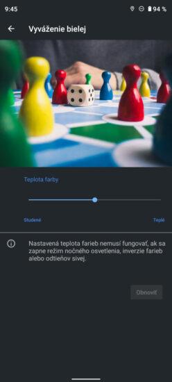 Nokia X20 vyváženie bielej