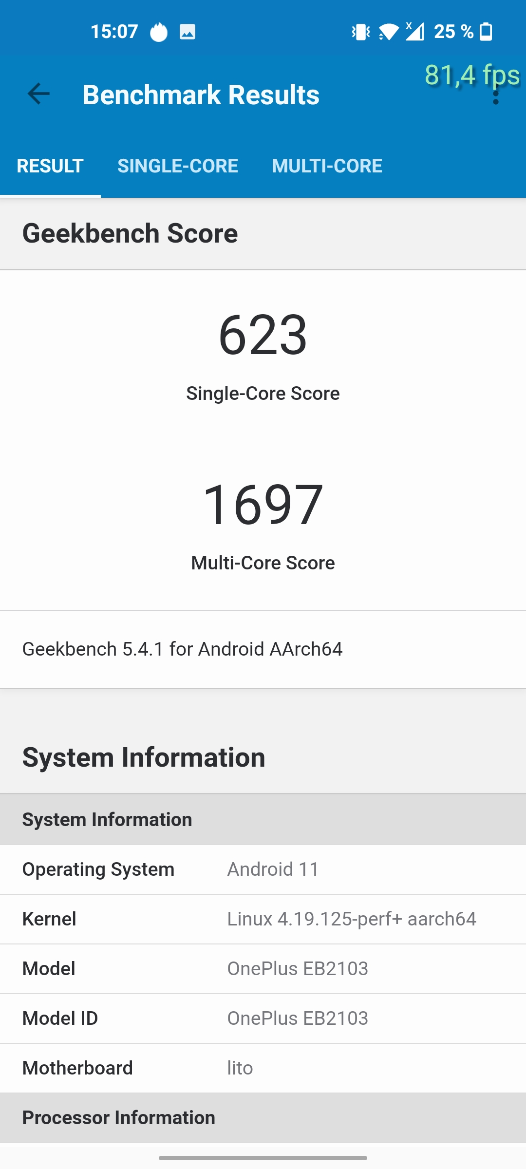 OnePlus Nord CE 5G GeekBench