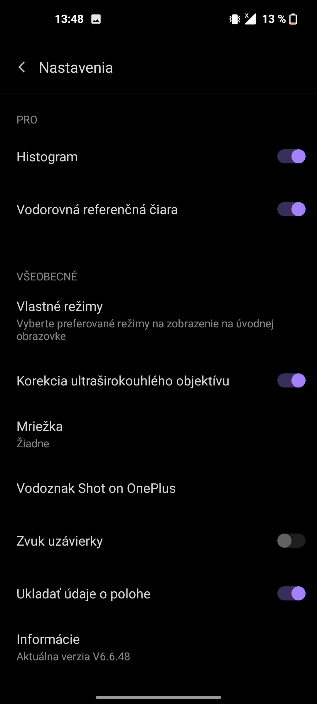 OnePlus Nord CE 5G aplikácia fotoaparátu