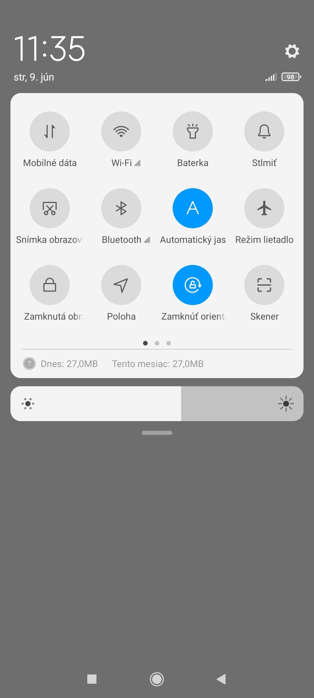 Redmi Note 10 5G - MIUI 12 notifikačná lišta