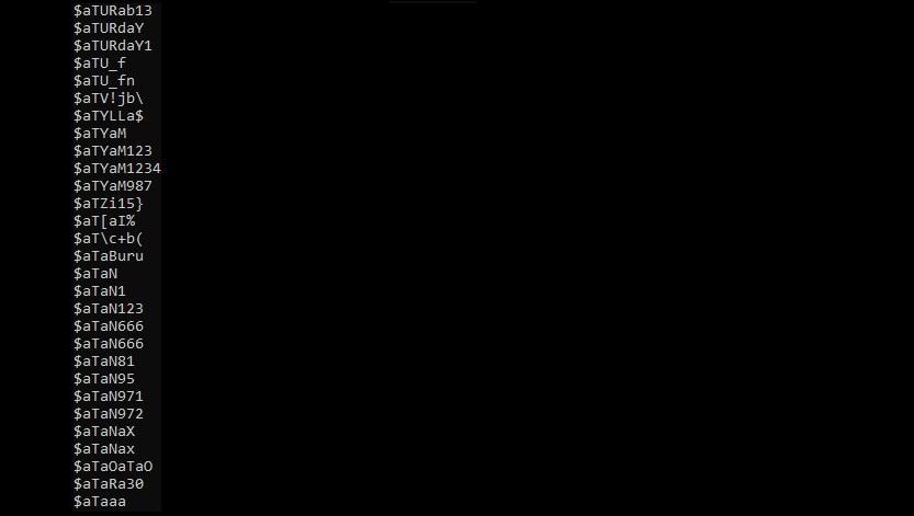RockYou 2021 - príklad uniknutých hesiel