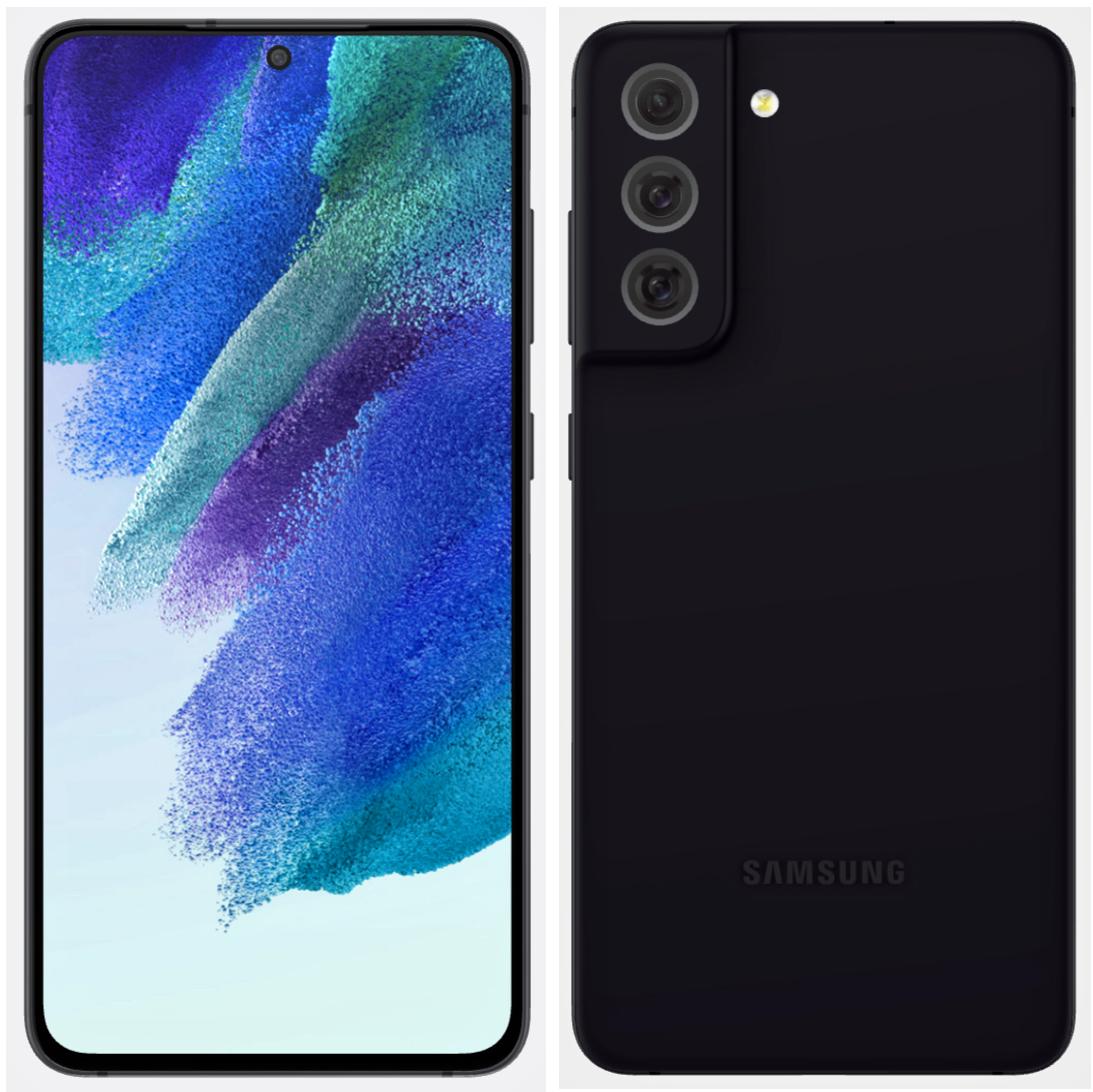 Samsung Galaxy S21 FE dizajn render - čierna