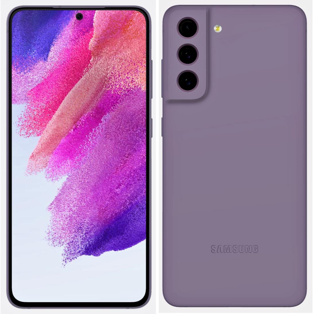 Samsung Galaxy S21 FE dizajn render - fialová