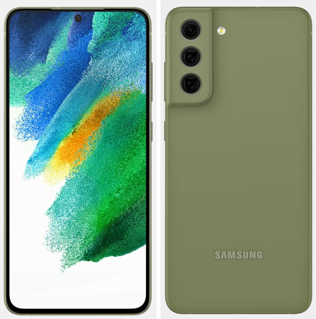 Samsung Galaxy S21 FE dizajn render - zelená