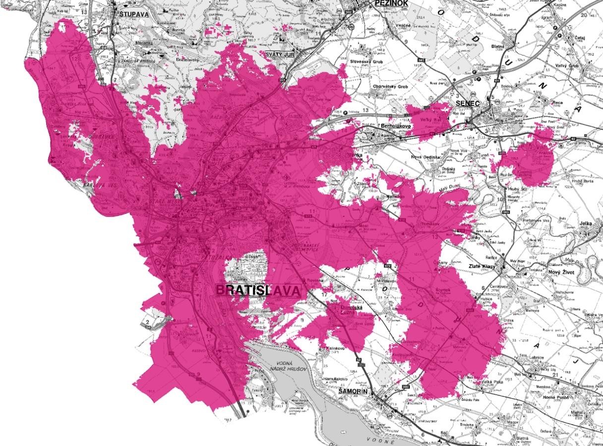 Telekom 5G pokrytie