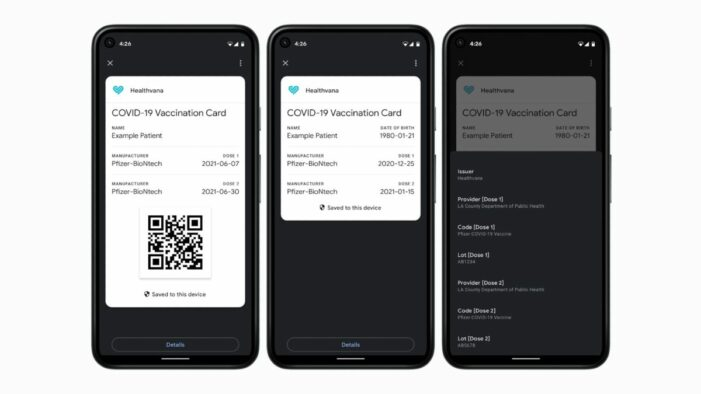 COVID certificate directly in Android