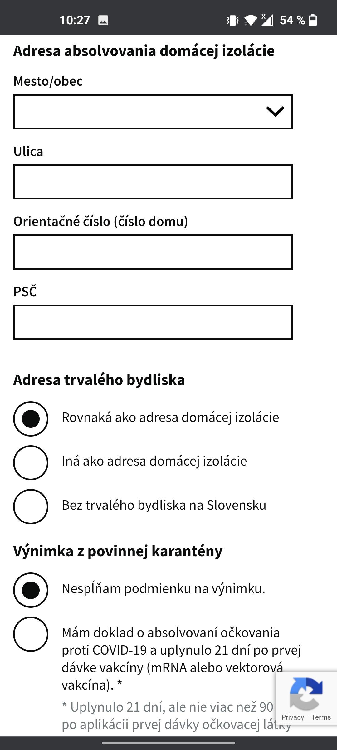 Proces registrácie do systému eHranica